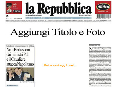Crea prima pagina quotidiano